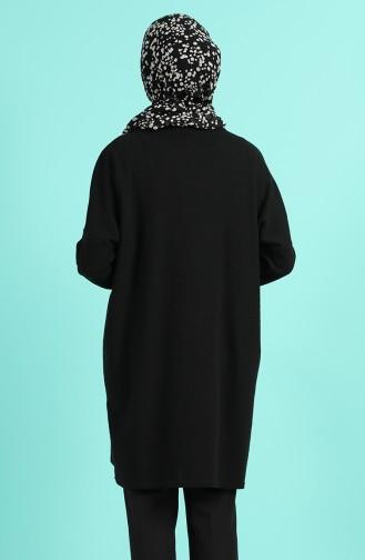 Kolyeli Düz Tunik 1336-01 Siyah