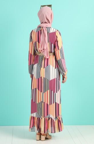 Robe Hijab Moutarde 3054-03