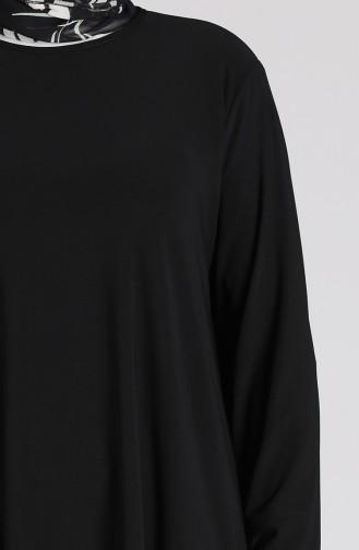 Sandy Tunik Pantolon İkili Takım 4697-01 Siyah