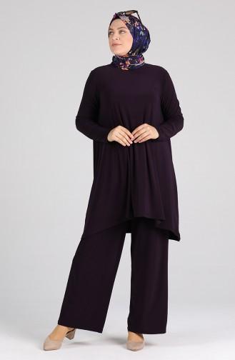 Sandy Tunik Pantolon İkili Takım 4697-02 Mor