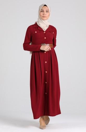 Robe Hijab Bordeaux 5135-02