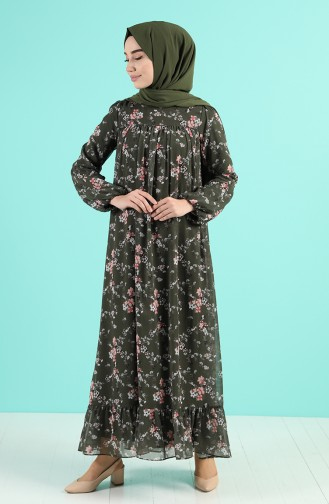 Khaki İslamitische Jurk 5150-05