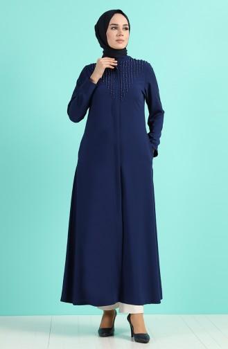 Abayas Bleu Marine 1002-02