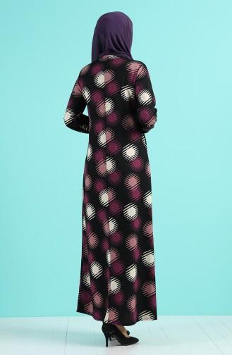 Robe Hijab Pourpre 8880-03