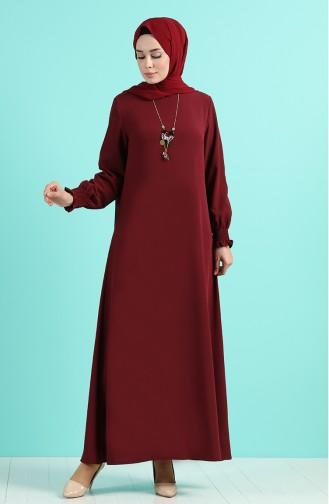 فستان أحمر كلاريت 1003-01