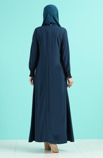 Necklace Dress 1003-03 Petrol Blue 1003-03