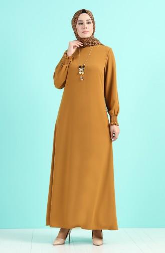 Robe Hijab Moutarde 1003-04