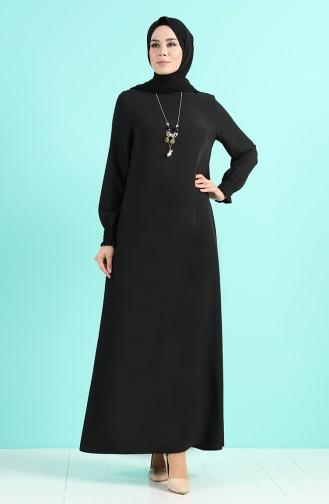Robe Hijab Noir 1003-07