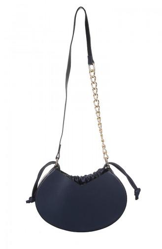 Navy Blue Shoulder Bag 419-011