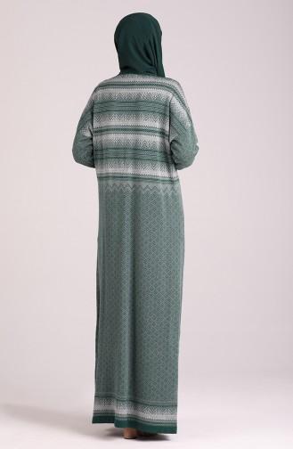 Robe Hijab Vert emeraude 1038-04