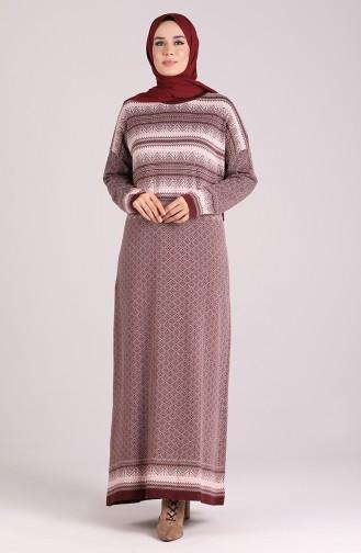 Robe Hijab Bordeaux 1038-06