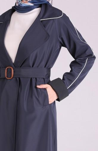 Trench Coat Bleu Marine 5169-03