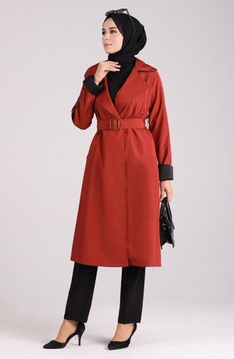 Trench Coat Couleur brique 5169-04