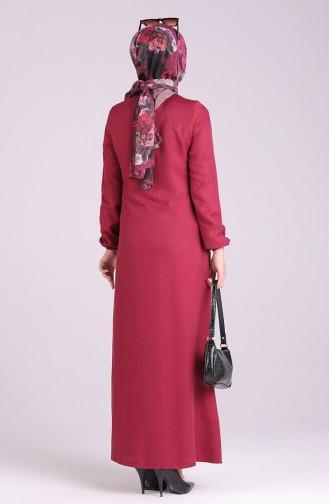 Claret Red Abaya 3057-02