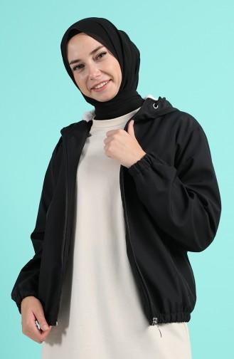 Hooded Short Coat 0505-04 Black 0505-04
