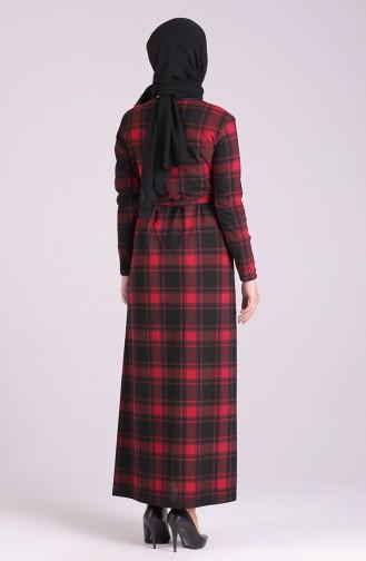 Rot Hijab-Abendkleider 1003-01