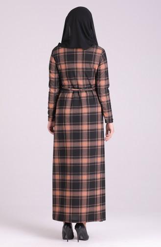 Karamel Hijab-Abendkleider 1003-02