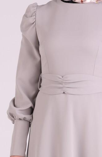Gray Hijab Dress 2037-02