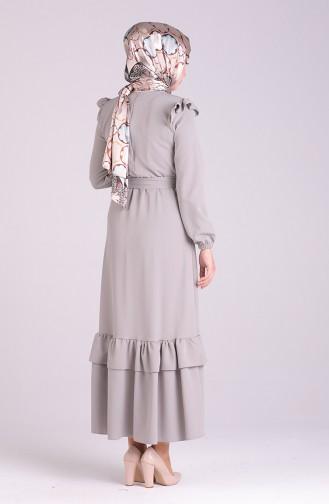 Gray İslamitische Jurk 2038-05