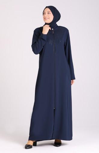 Abayas Bleu Marine 5337-02