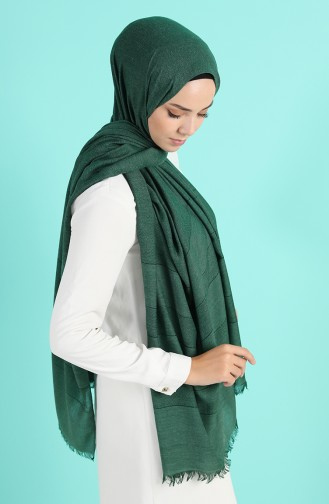 شال أخضر زمردي 13187-20