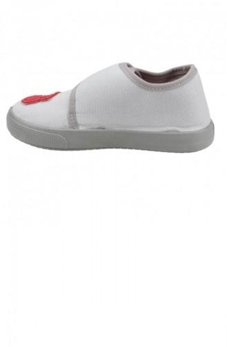 Sanbe 106P104 Okul Kreş Kızerkek Çocuk Keten Panduf Ayakkabı Grı 19KAYSAN0000001_GRI