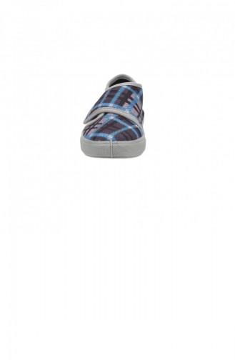 Sanbe 106P126 Okul Kreş Kızerkek Çocuk Keten Panduf Ayakkabı Grı 19KAYSAN0000008_GRI