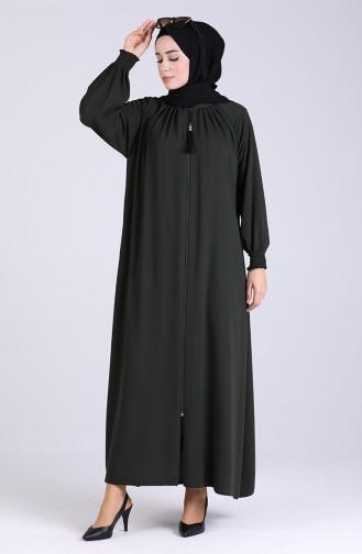 Khaki Abaya 0122-02