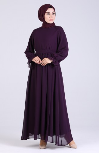 Robe Hijab Pourpre 5134-02