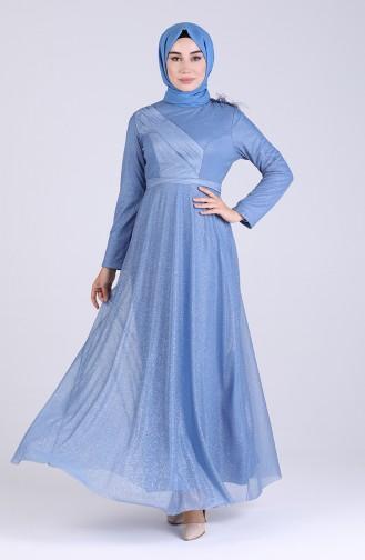 Habillé Hijab Indigo 4221-03