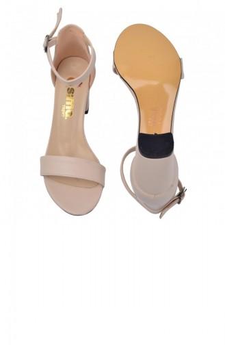 Ayakland Bsm 62 Cilt 7 Cm Topuk Bayan Sandalet Ayakkabı Ten 20YSANAYK000001_TE