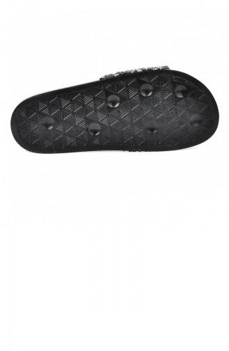 Claquettes d`été Noir 20YTERAYK000016_Siyahgum