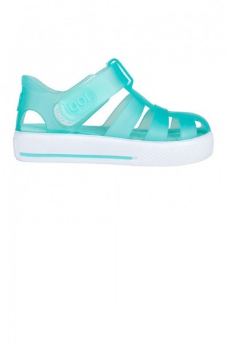 Turquoise Kid s Slippers & Sandals 19YAYIG00000001_TUR