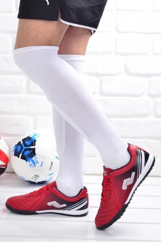 Jump 25356 Halı Saha Erkek Çocuk Futbol Ayakkabı Kırmızı