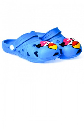 Kiko Akn E109000 Plaj Havuz Banyo Kızerkek Çocuk Terlik Mavi 20YTERKIK000009_MV