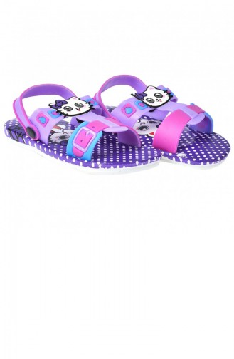 Pantoufles & Sandales Pour Enfants Violet 20YTERKIK000001_EFLATUN