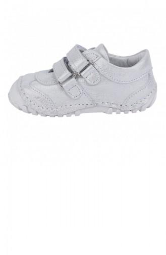 Kiko Kids Teo 138 100 Deri Orto Pedik Cırtlı Kız Çocuk Ayakkabı Gümüş 20YILKKIK000010_Gu