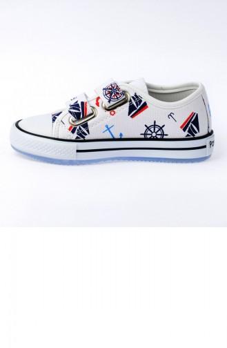 Chaussures Enfant Blanc 20YPAN201C150_Marin