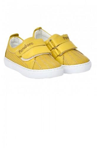 Kiko Pnd 401Ds101 Hakiki Deri Kızerkek Çocuk Spor Ayakkabı Sarı 20YPAN401DS101_SARI