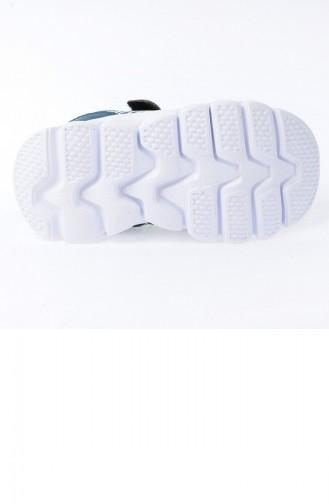 Kiko S12 Günlük Fileli Cırtlı Kızerkek Çocuk Spor Ayakkabı Petrol