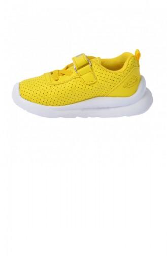 Kiko S20 Günlük Fileli Cırtlı Kızerkek Çocuk Spor Ayakkabı Sarı 20YSPORKIK00006_SA