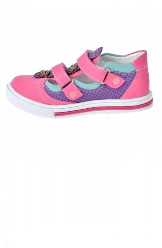 Kiko Şb 220610 Orto Pedik Kız Çocuk Bebe Ayakkabı Sandalet Fuşya Mor 20YSANSIR000033_2207