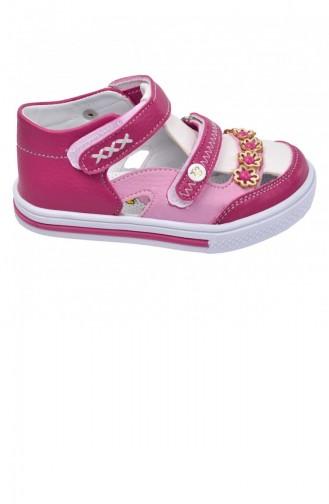 Kiko Şb 222328 Orto Pedik Kız Çocuk Bebe Ayakkabı Sandalet Fuşyabeyaz 20YSANSIR000002_2223