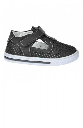 Kiko Şb 222936 Orto Pedik Erkek Çocuk Bebe Ayakkabı Sandalet Gri Siyah 20YSANSIR000030_2234
