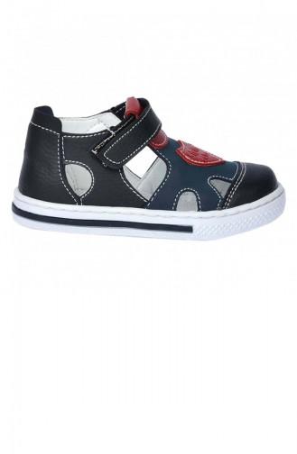Kiko Şb 225055 Orto Pedik Erkek Çocuk Bebe Ayakkabı Sandalet Siyahlacivert