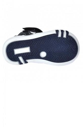 Kiko Şb 225055 Orto Pedik Erkek Çocuk İlk Adım Ayakkabı Sandalet Siyahlacivert