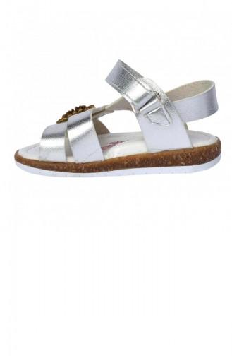 Kiko Şb 230110 Orto Pedik Kız Çocuk Bebe Sandalet Terlik Gümüş 20YSANSIR000013_2307