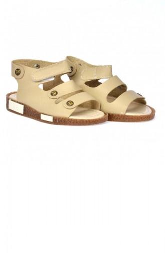 Kiko Şb 235025085816 Orto Pedik Erkek Çocuk Sandalet Terlik Bej 20YSANSIR000031_23582512