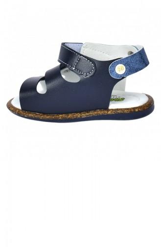 Kiko Şb 235058 Orto Pedik Erkek Çocuk İlk Adım Sandalet Terlik Siyahmavi 20YILKSIR000015_2351