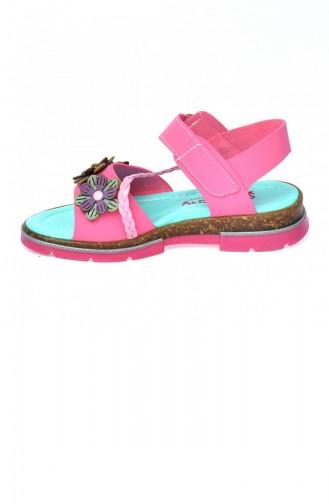 Kiko Şb 245968 Orto Pedik Kız Çocuk Sandalet Terlik Fuşya 20YSANSIR000029_2459